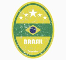 World Cup Football 1/8 - Brasil (Distressed) Kids Clothes