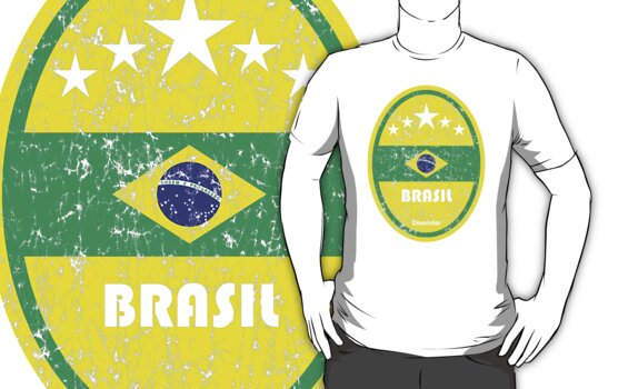 World Cup Football 1/8 - Brasil (Distressed) by madeofthoughts
