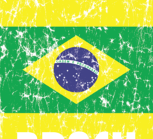 World Cup Football 1/8 - Brasil (Distressed) Sticker