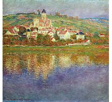 Claude Monet - Vetheuil Pink Effect Photographic Print