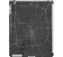 Indianapolis, USA Map. (White on black) iPad Case/Skin