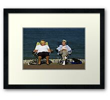 Snoozing by the Sea Framed Print
