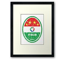World Cup Football 2/8 - Italia (Distressed) Framed Print