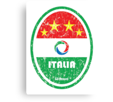 World Cup Football 2/8 - Italia (Distressed) Canvas Print