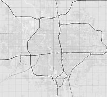 Wichita, USA Map. (Black on white) by Graphical-Maps
