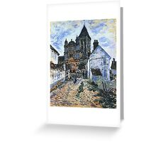 Claude Monet - Vetheuil The Church 1 Greeting Card