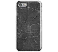 Indianapolis, USA Map. (White on black) iPhone Case/Skin