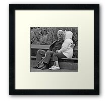 Every Picture Tells a Story Framed Print