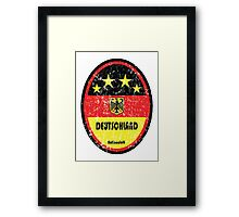 World Cup Football 3/8 - Deutschland (Distressed) Framed Print