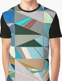 Mid-Century Modern Abstact, Turquoise and Neutrals Graphic T-Shirt