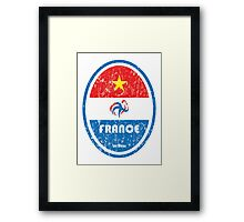 World Cup Football 7/8 - France (Distressed) Framed Print