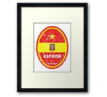 World Cup Football 8/8 - Espana (Distressed) Framed Print