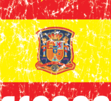 World Cup Football 8/8 - Espana (Distressed) Sticker