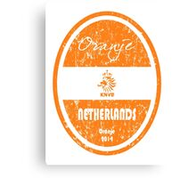 World Cup Football - Netherlands (Distressed) Canvas Print