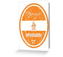 World Cup Football - Netherlands (Distressed) Greeting Card