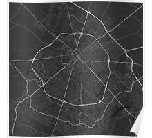 Lexington, USA Map. (White on black) Poster