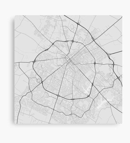 Lexington, USA Map. (Black on white) Canvas Print