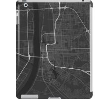 Baton Rouge, USA Map. (White on black) iPad Case/Skin