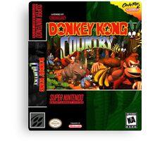 Donkey Kong Country: Box art Canvas Print