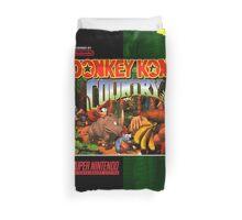 Donkey Kong Country: Box art Duvet Cover