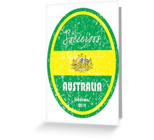 World Cup Football - Australia (distressed) Greeting Card