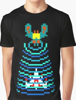 Galaga Captured Ship Graphic T-Shirt