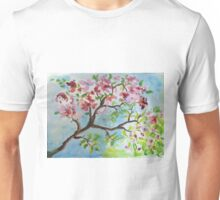 bloesem aquarel Unisex T-Shirt