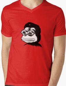 Pepe Guevara Sad Frog Meme Mens V-Neck T-Shirt