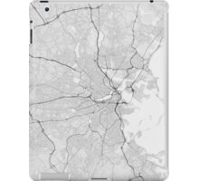 Boston, USA Map. (Black on white) iPad Case/Skin