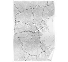 Boston, USA Map. (Black on white) Poster