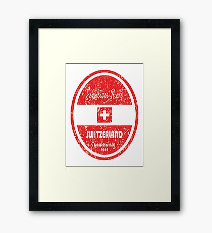 World Cup Football - Switzerland Framed Print