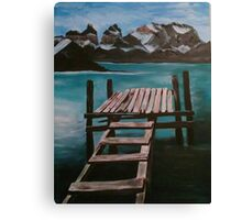 Deck on Water Canvas Print