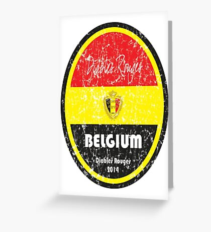 World Cup Football - Belgium Greeting Card