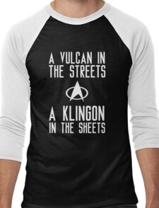 A vulcan in the streets a klingon in the sheets Men's Baseball ¾ T-Shirt