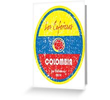 World Cup Football - Colombia Greeting Card