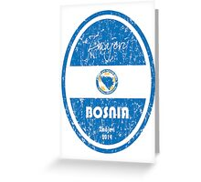World Cup Football - Bosnia and Herzegovina Greeting Card