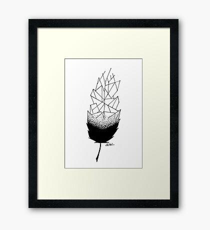 Geometric Feather Framed Print