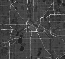 Minneapolis, USA Map. (White on black) by Graphical-Maps