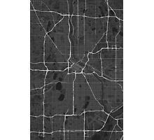 Minneapolis, USA Map. (White on black) Photographic Print