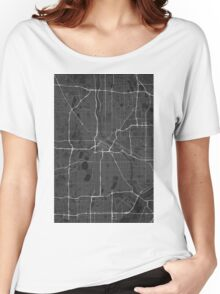 Minneapolis, USA Map. (White on black) Women's Relaxed Fit T-Shirt