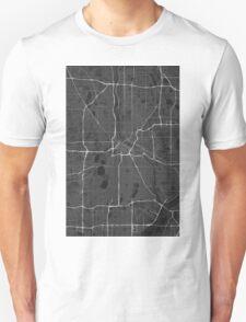 Minneapolis, USA Map. (White on black) T-Shirt