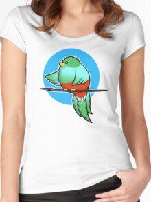 Cute Resplendent Quetzal Women's Fitted Scoop T-Shirt