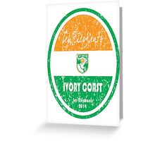 World Cup Football - Ivory Coast Greeting Card
