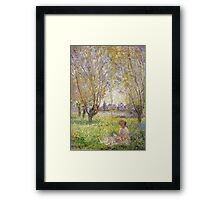 Claude Monet - Woman Sitting Under The Willows Framed Print