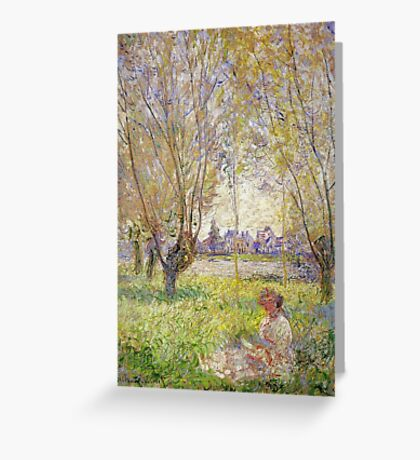 Claude Monet - Woman Sitting Under The Willows Greeting Card