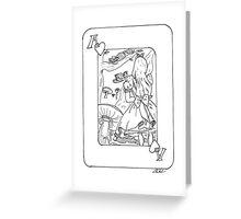 Alice in Wonderland (Playing Card) Greeting Card