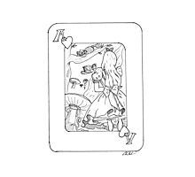 Alice in Wonderland (Playing Card) Photographic Print