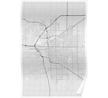 Lincoln, USA Map. (Black on white) Poster