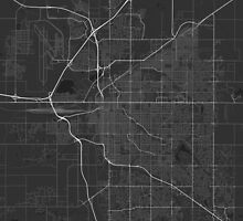 Lincoln, USA Map. (White on black) by Graphical-Maps
