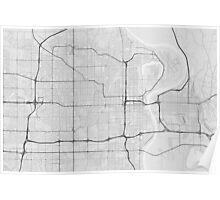 Omaha, USA Map. (Black on white) Poster